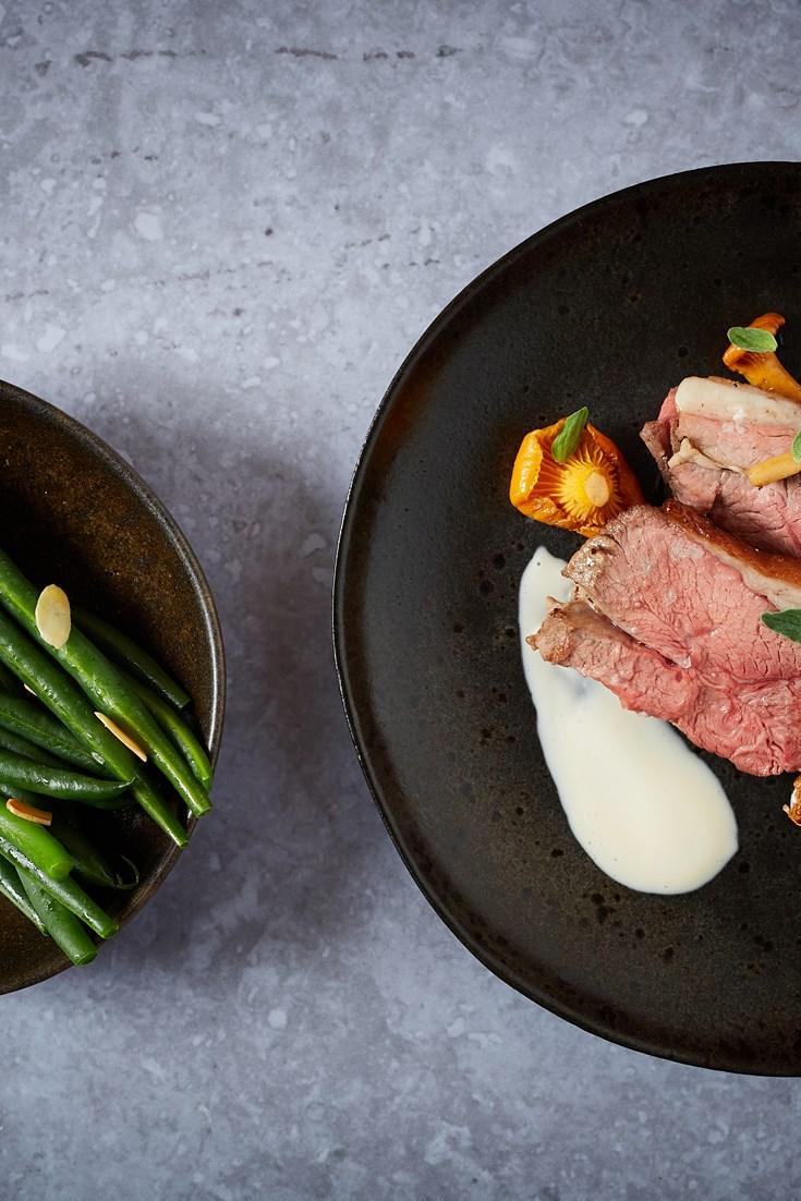 Lamb Rump with Wild Mushrooms and Cider Sauce Recipe - Great British Chefs