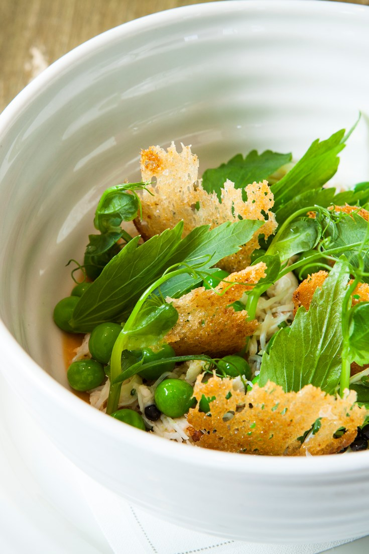 Crab Royale Recipe with Peas - Great British Chefs