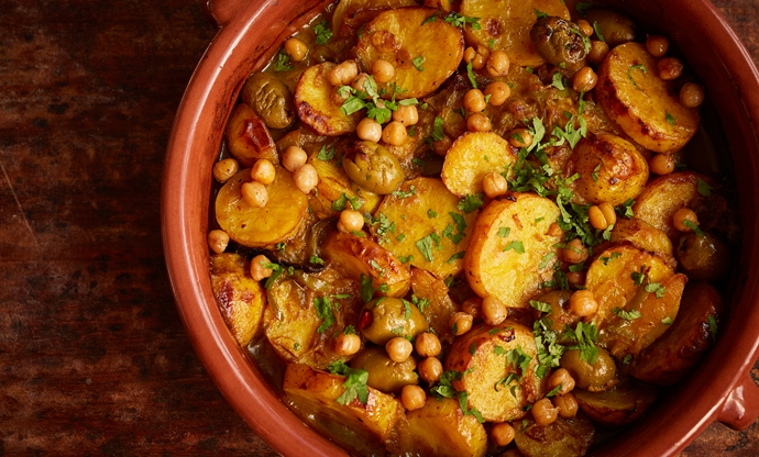 Potato, olive and preserved lemon tagine