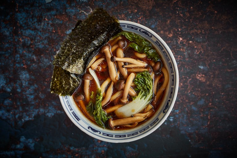Vegan Mushroom Miso Soup With Udon Noodles Great British Chefs