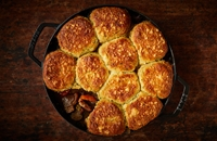 Beef cobbler with Gruyère and herb scones