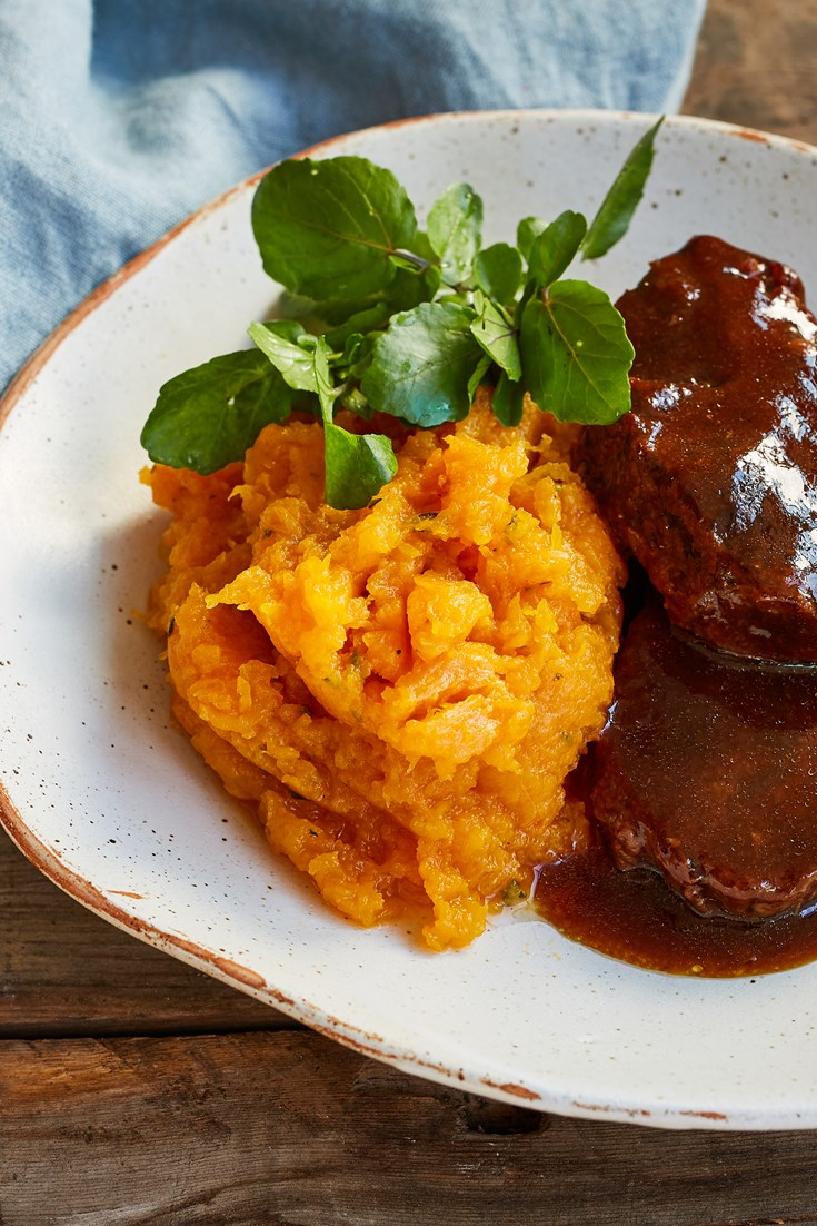 Featherblade of Beef with Soy Sauce, Squash and Watercress Recipe - Great British Chefs