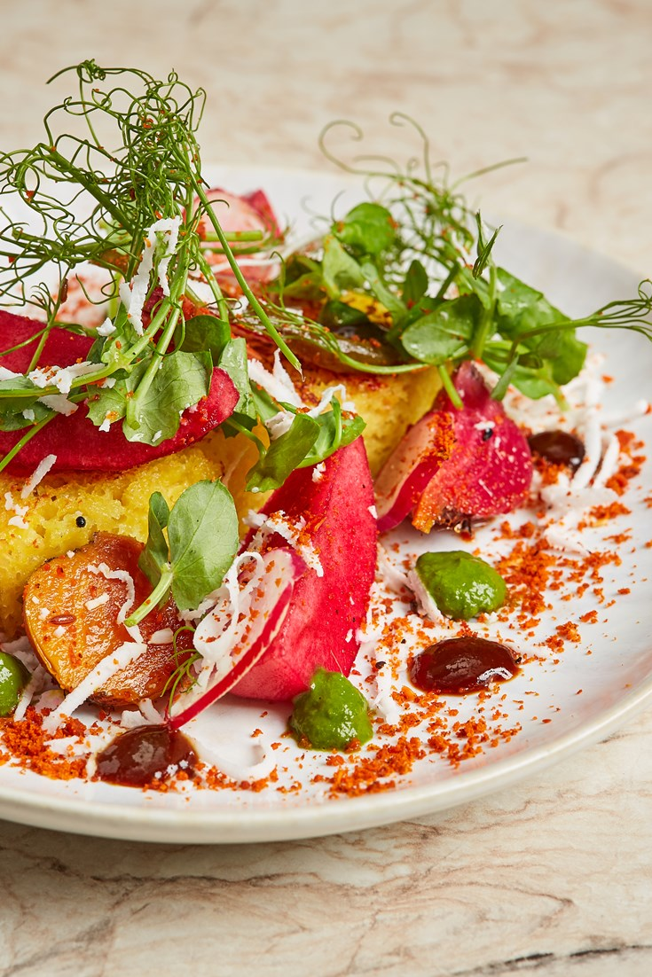 Dhokla with Apple and Beetroot Recipe - Great British Chefs