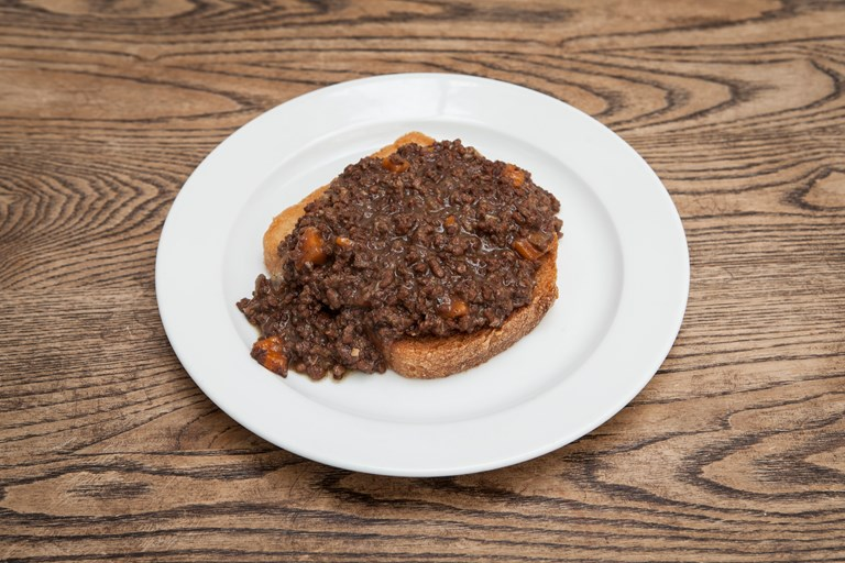 Beef mince on dripping toast