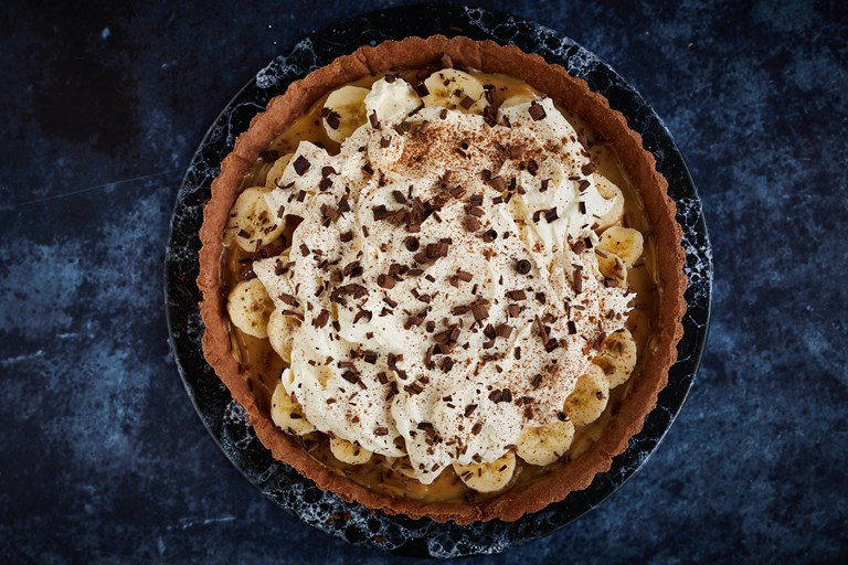 Rye, chocolate and cinnamon banoffee pie