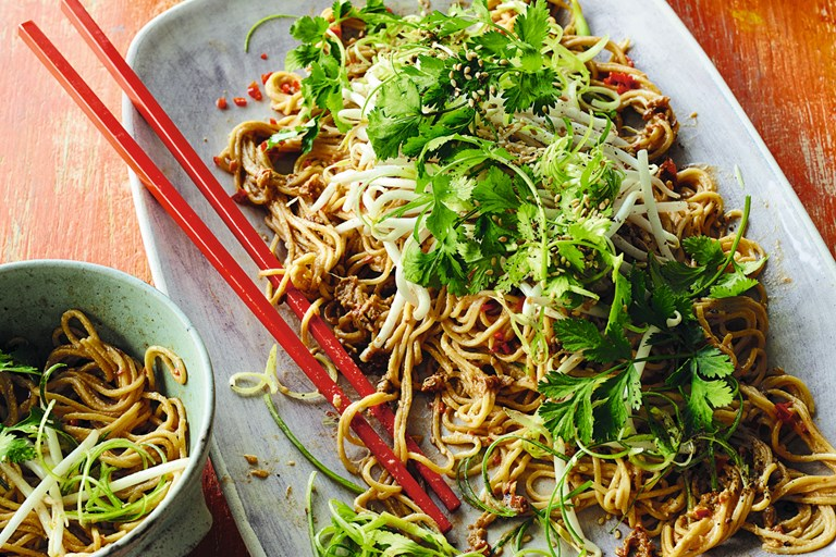 Sichuan-style liang mian - cold noodle salad