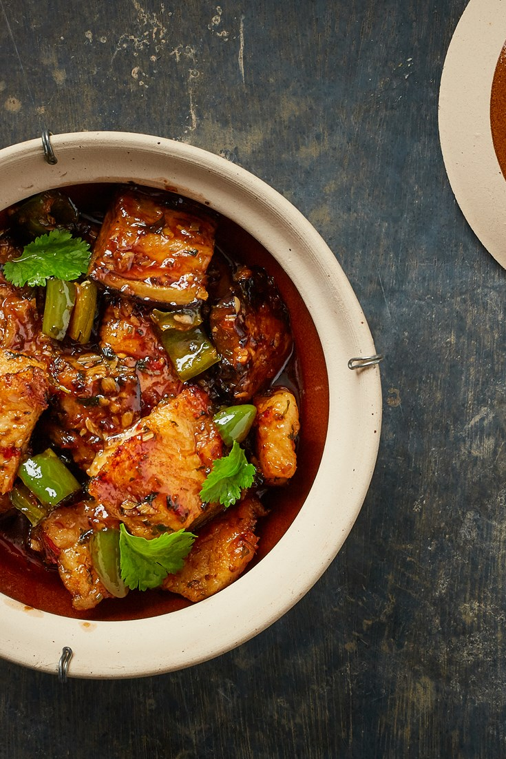 Aubergine, Green Chilli and Fish Claypot Recipe - Great British Chefs