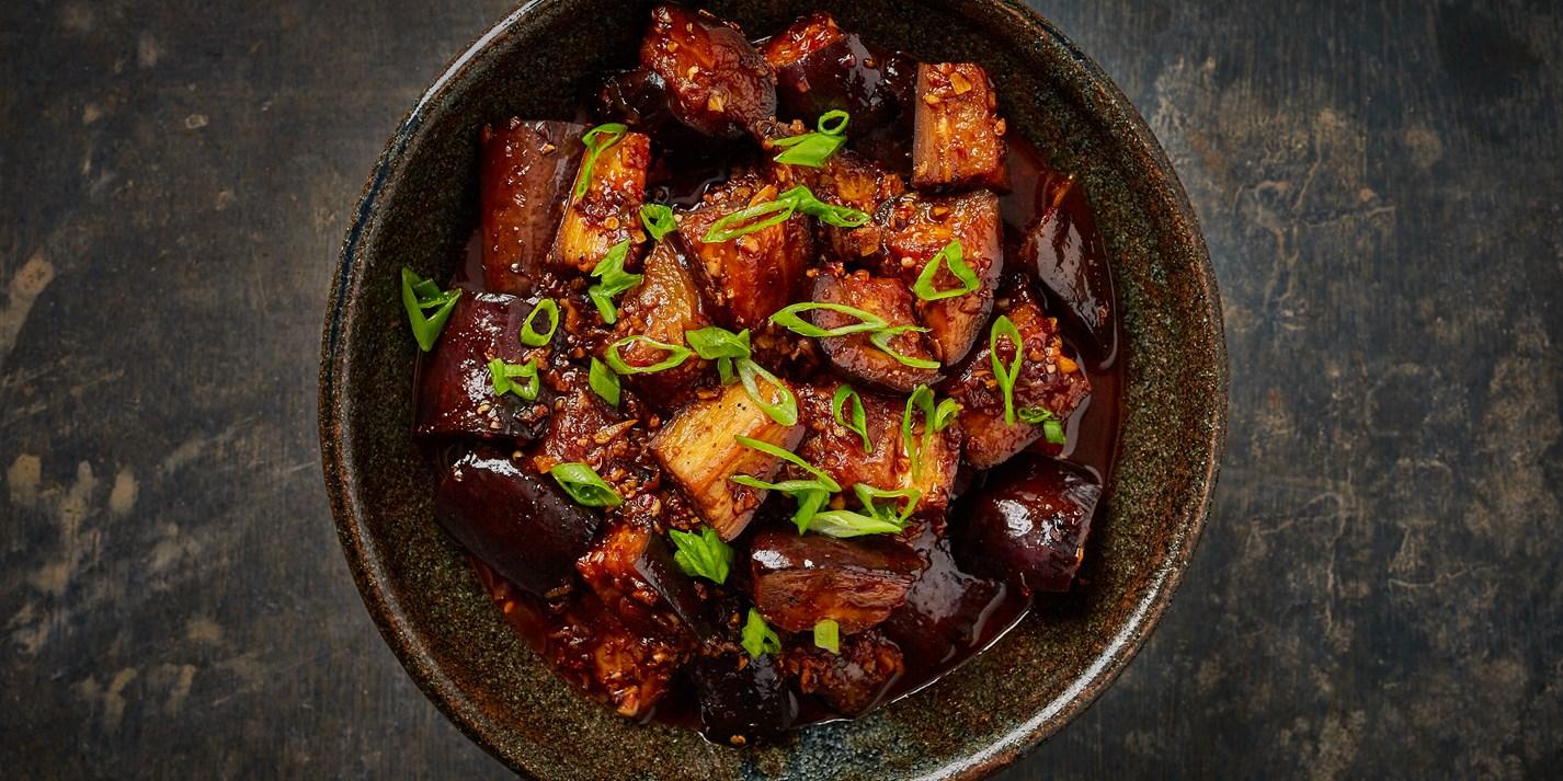 Braised Spicy Aubergines Recipe - Great British Chefs