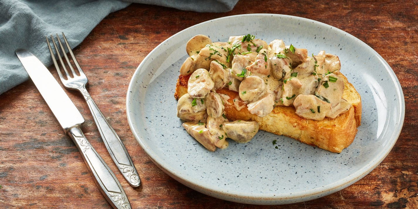 Creamy Dijon Mushrooms on Toasted Brioche Recipe - Great British Chefs