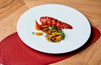 Lobster with carrot, citrus and tandoori spices