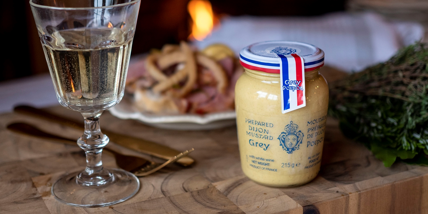 Grey Poupon: mustard made for cooking
