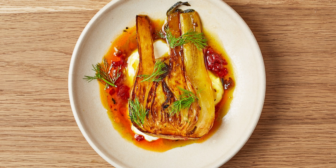 Confit Fennel with Saffron and Harissa Recipe - Great British Chefs