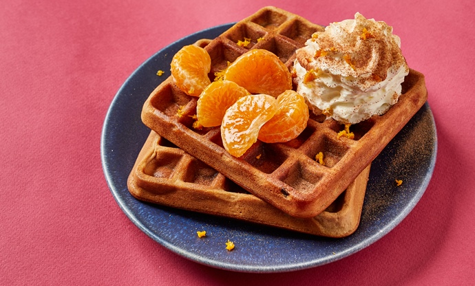 Chocolate orange waffles