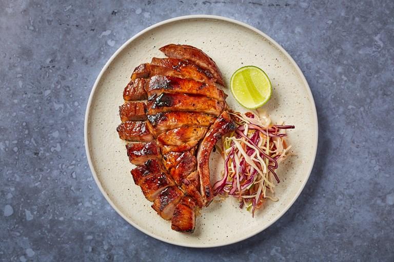 pork chop recipe fish sauce Fish sauce caramel pork chop with Asian slaw