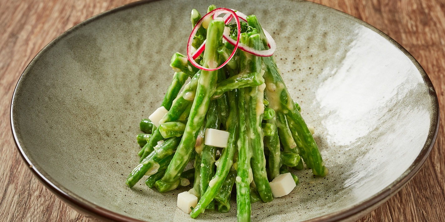 Green Bean and White Balsamic Miso Salad Recipe - Great British Chefs