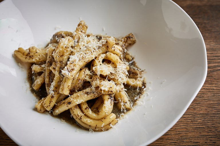 Strozzapreti with chicken stock, truffle, butter and Parmesan