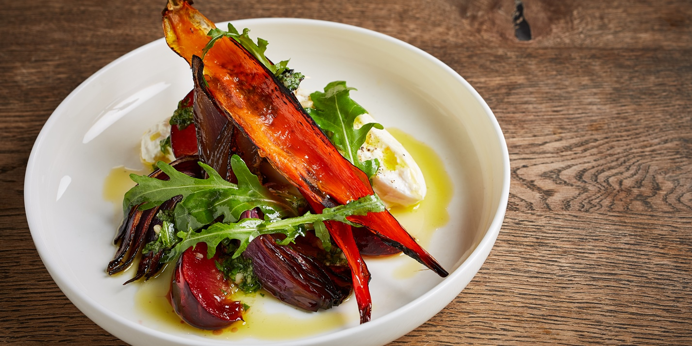 Burrata with Pickled Plums and Scorched Chillies Recipe - Great British Chefs