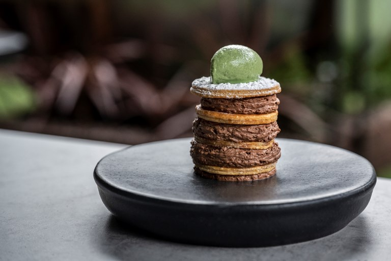 '8.01' – mint chocolate mille-feuille