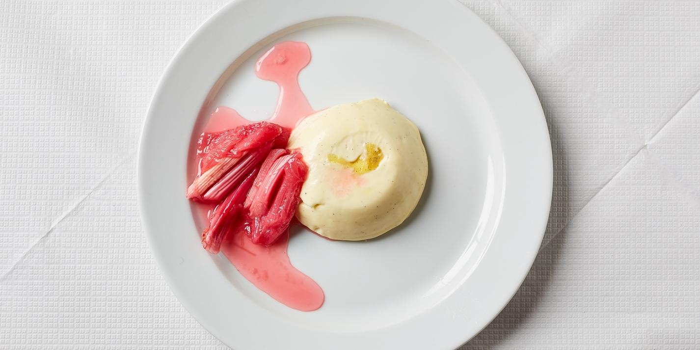 Panna Cotta with Rhubarb, Blood Orange and Grappa Recipe - Great British Chefs