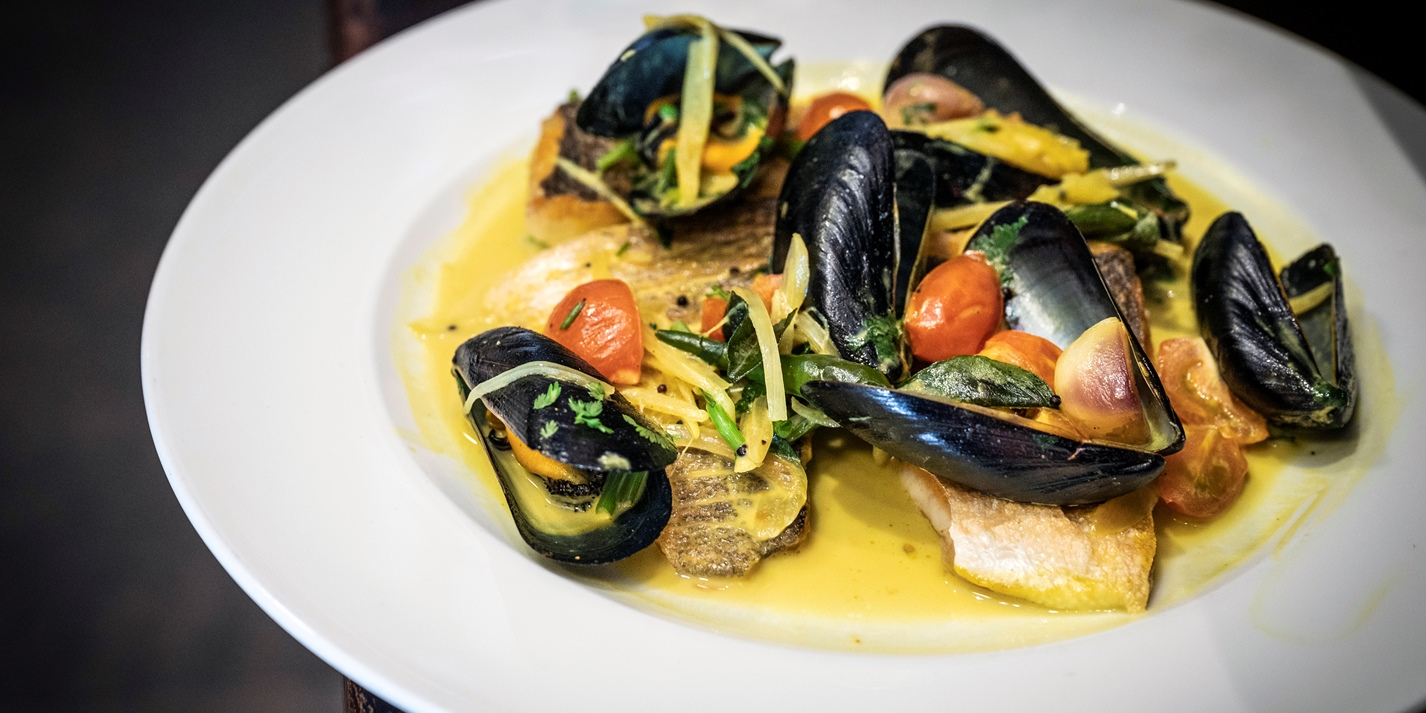 Sea Bass, Mussel and White Wine Curry Recipe - Great British Chefs